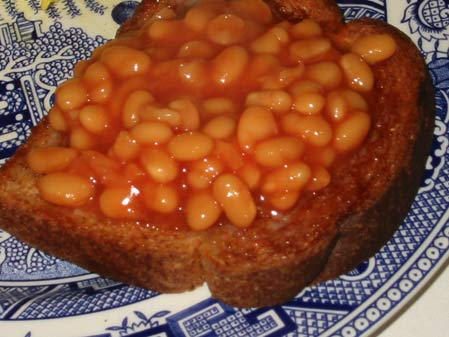 Beans on Toast being eaten