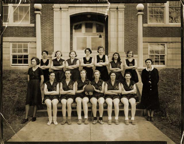 1932 Berkeley Springs High School Girls Basketball Team, Morgan County, West Virginia