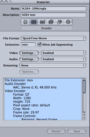 Exporting 1080i Final Cut Pro HD video to youtube using Apple Compressor